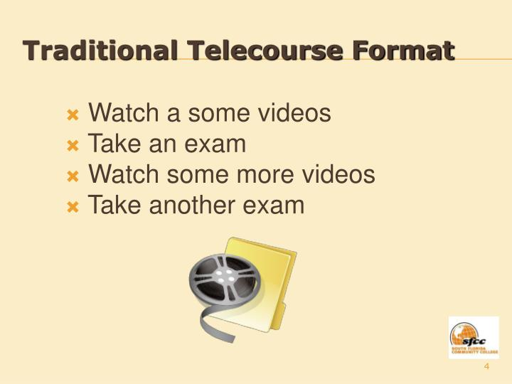 Traditional Telecourse Format