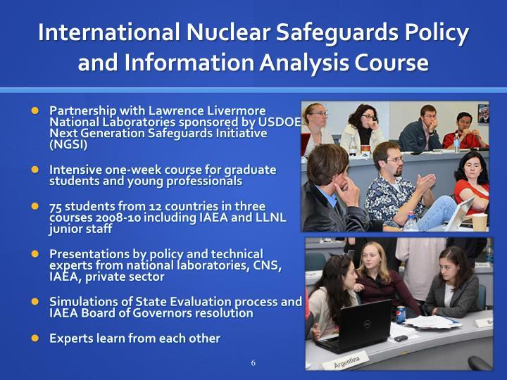 International Nuclear Safeguards