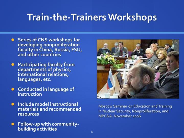 Train-the-Trainers Workshops