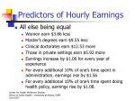 predictors of hourly earnings1