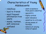 characteristics of young adolescents