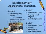 developmentally appropriate transition