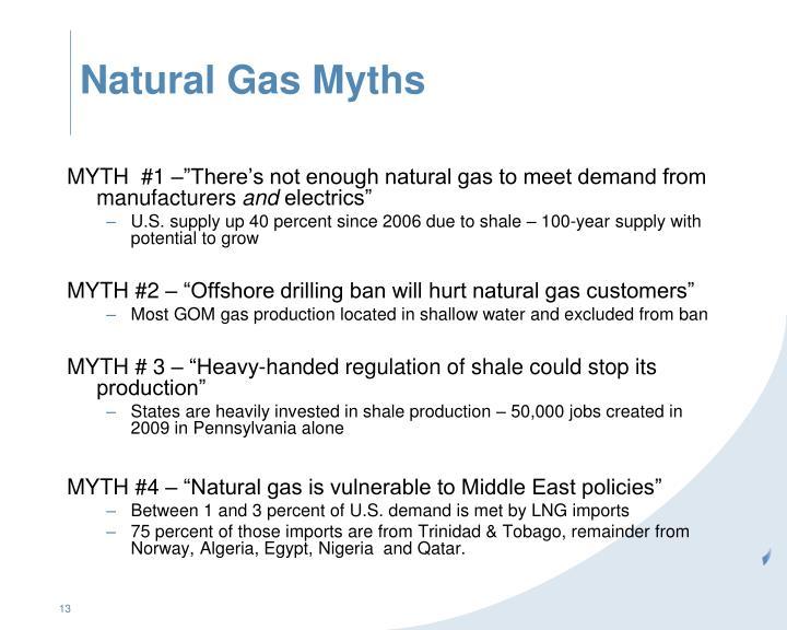 Natural Gas Myths