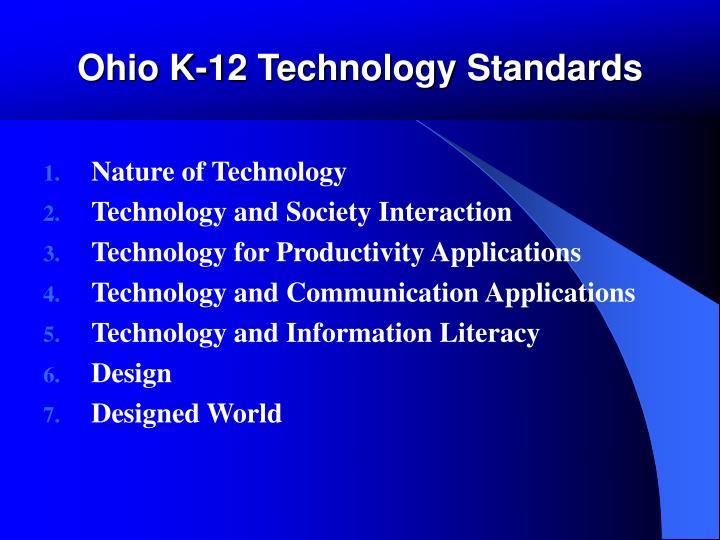 Ohio K-12 Technology Standards