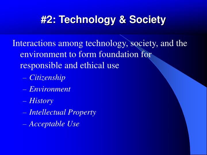 #2: Technology & Society