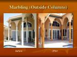 marbling outside columns
