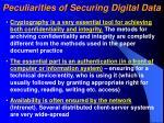 peculiarities of securing digital data