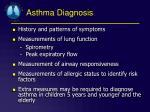 asthma diagnosis