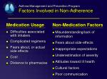 asthma management and prevention program factors involved in non adherence