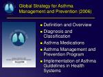 global strategy for asthma management and prevention 2006