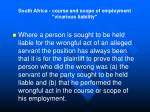 south africa course and scope of employment vicarious liability