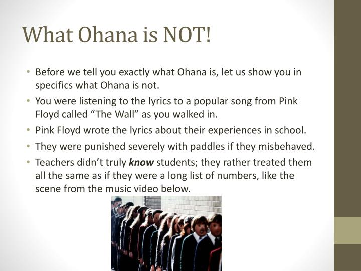 What ohana is not