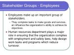 stakeholder groups employees