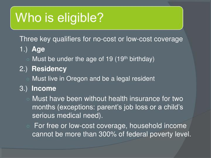 Three key qualifiers for no-cost or low-cost coverage