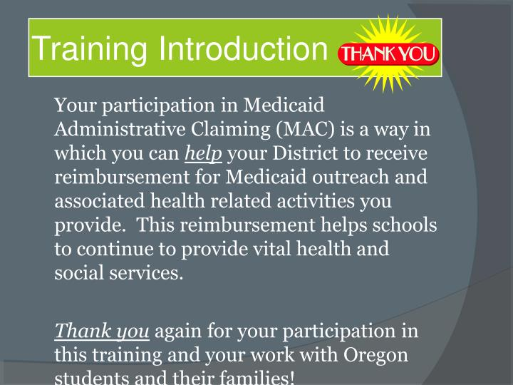 Training Introduction