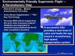 environmentally friendly supersonic flight a revolutionary step
