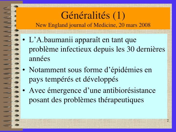 G n ralit s 1 new england journal of medicine 20 mars 2008