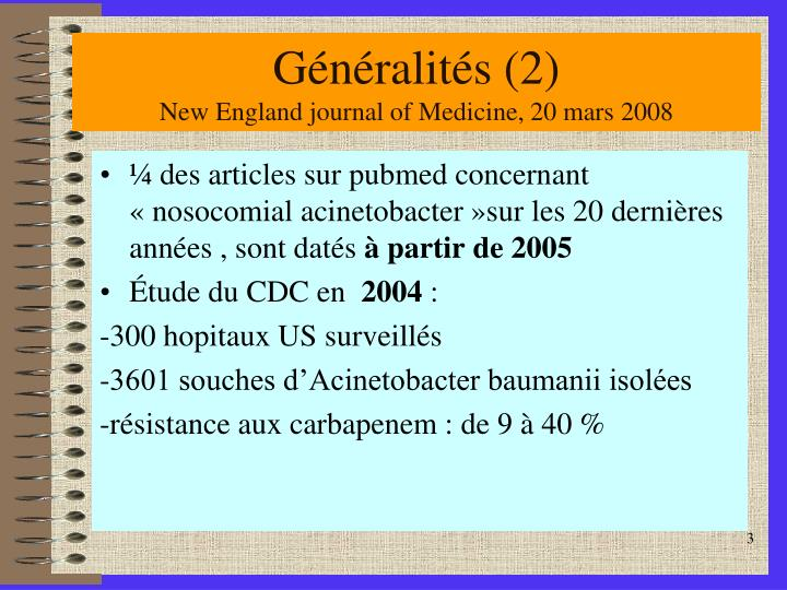 G n ralit s 2 new england journal of medicine 20 mars 2008