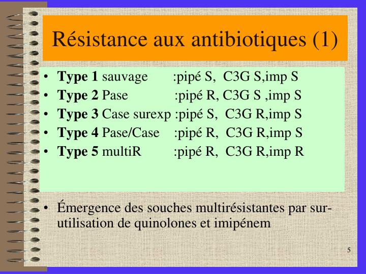 Résistance aux antibiotiques (1)