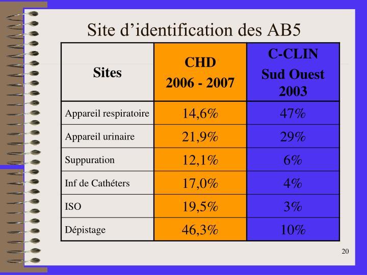 Site d'identification des AB5