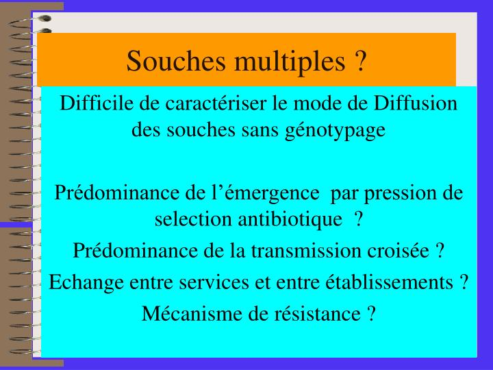 Souches multiples ?