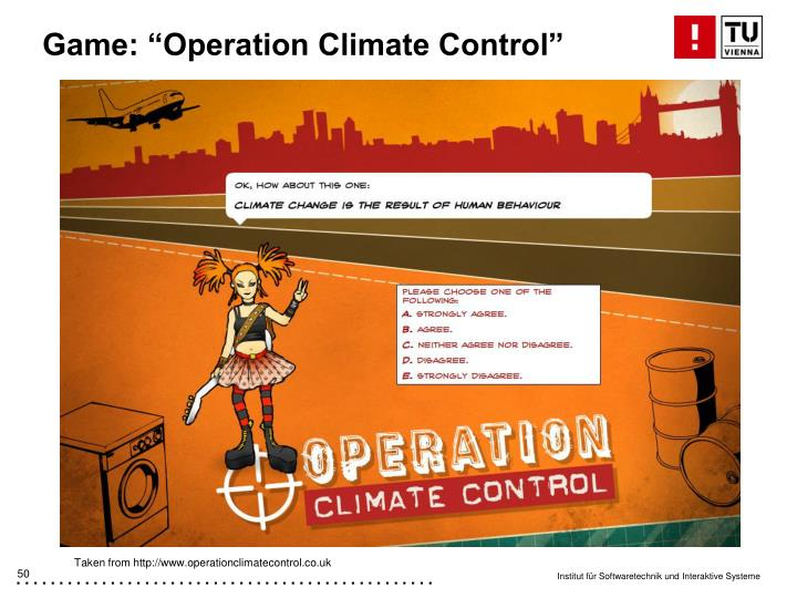 """Game: """"Operation Climate Control"""""""