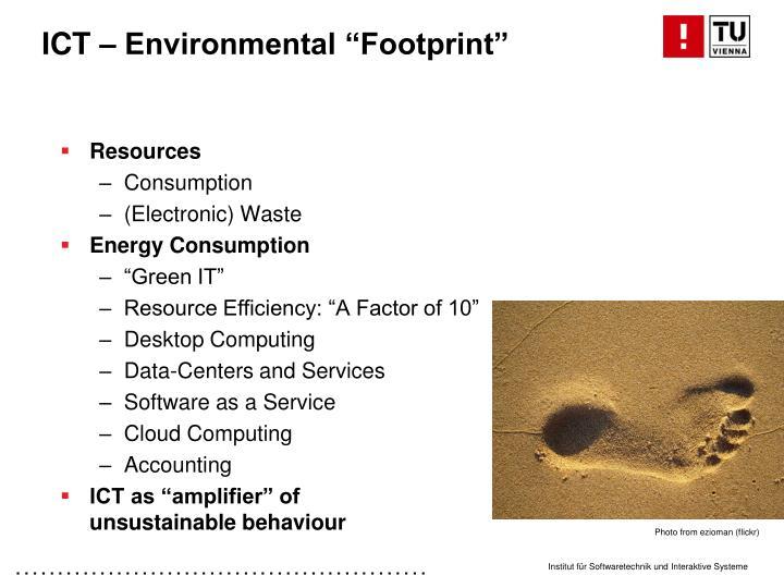 Ict environmental footprint