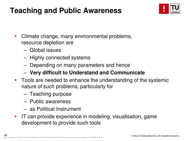 Teaching and Public Awareness