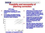 feasibilty and neccessity of jitterring correction