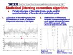 statistical jitterring correction algorithm