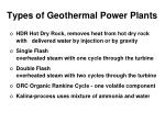 types of geothermal power plants