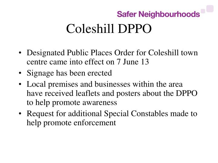 Coleshill DPPO