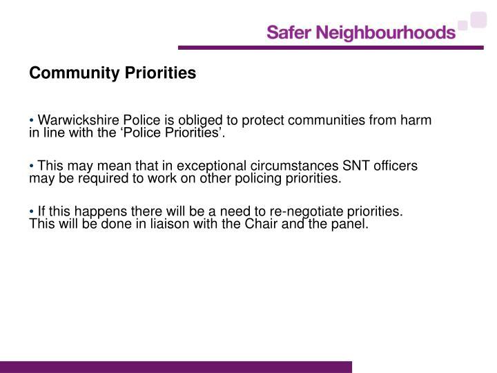 Community Priorities