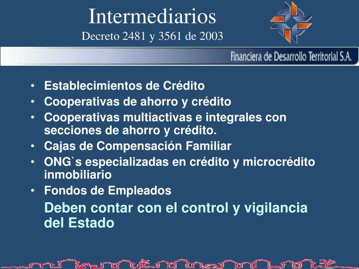 Intermediarios