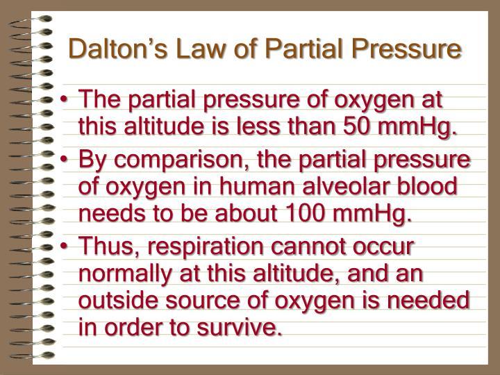 Dalton's Law of Partial Pressure