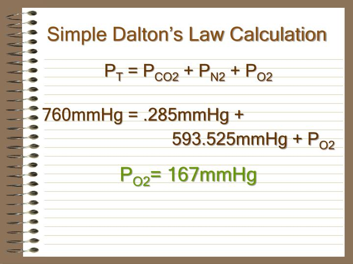 Simple Dalton's Law Calculation