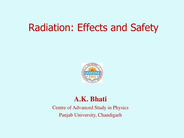 radiation effects and safety n.