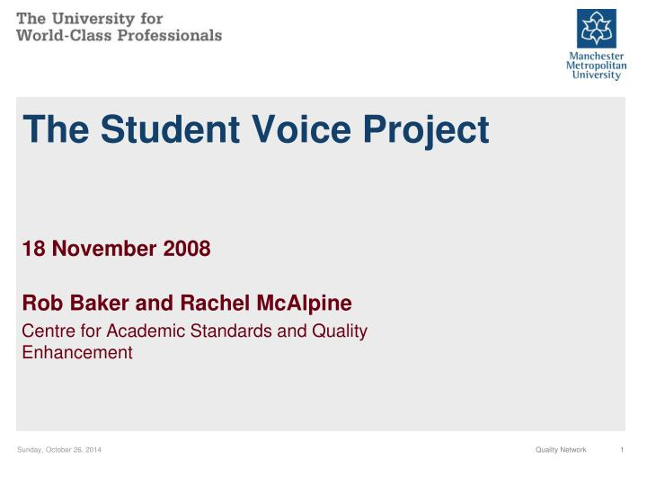the student voice project n.