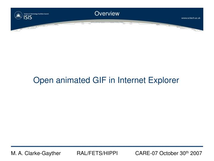 Open animated GIF in Internet Explorer
