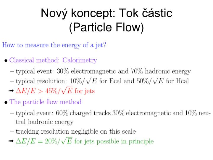 Nový koncept: Tok částic