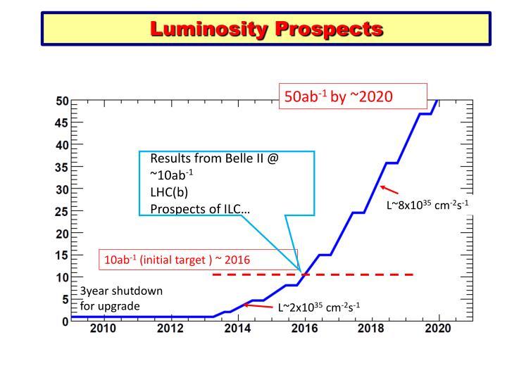 Luminosity Prospects