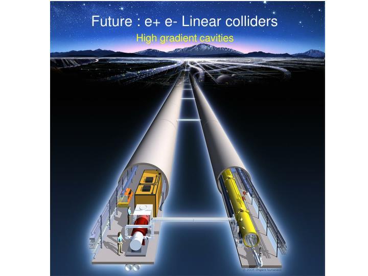 Future : e+ e- Linear colliders