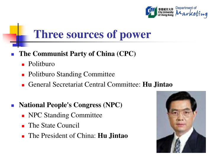 Three sources of power
