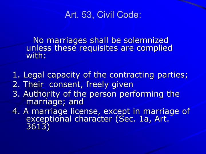 Art. 53, Civil Code: