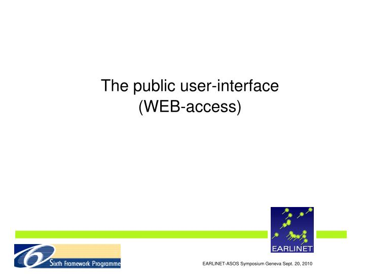 The public user-interface