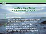 northern great plains environmental conditions