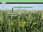 seed bed utilization