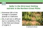 sulfur is the third most limiting nutrient in the northern great plains