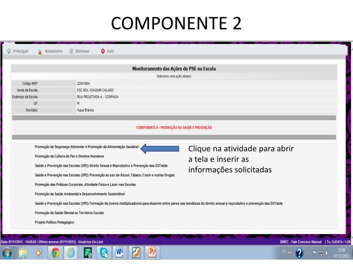 COMPONENTE 2