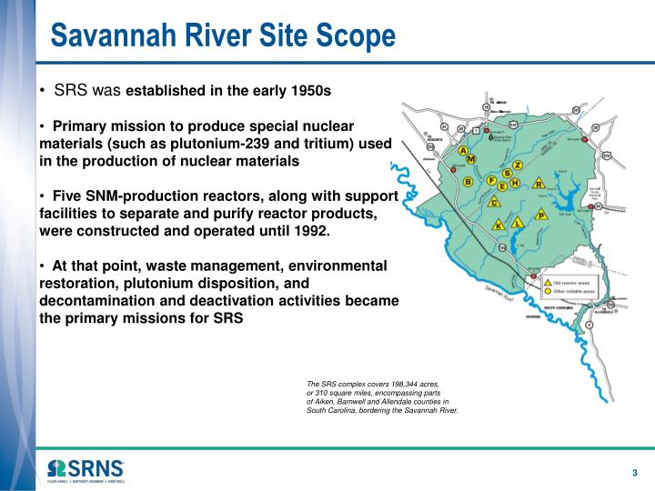 Savannah river site scope